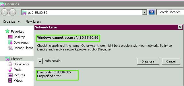 Computer Support Tips to Resolve Error Code 0x80004005 |